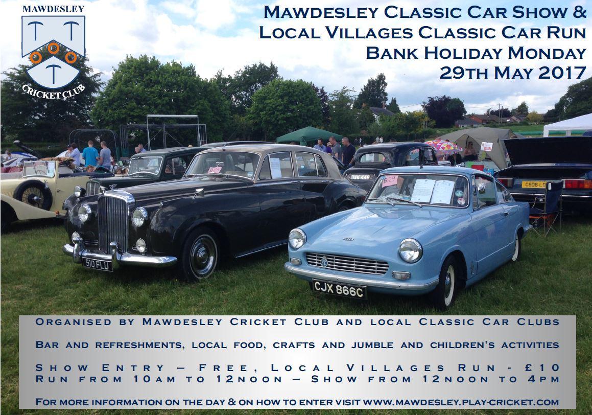 Mawdesley Classic Car Show West Lancs Buzz - Local classic car shows